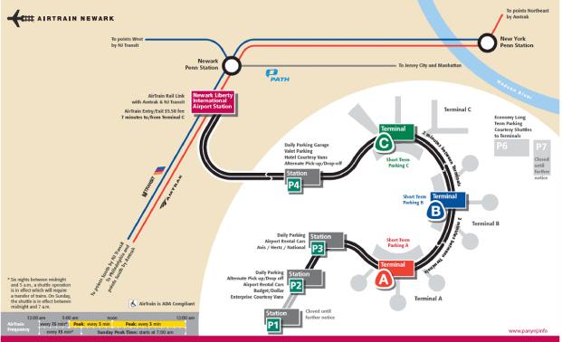 纽约旅游纽瓦克国际机场平面图